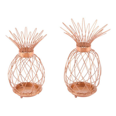 Pineapple 2-pc. Candle Holder Set
