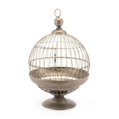 Round Birdcage Candle Holder