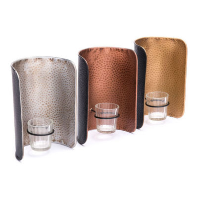 Set of 3 Metal Wall Candle Holders