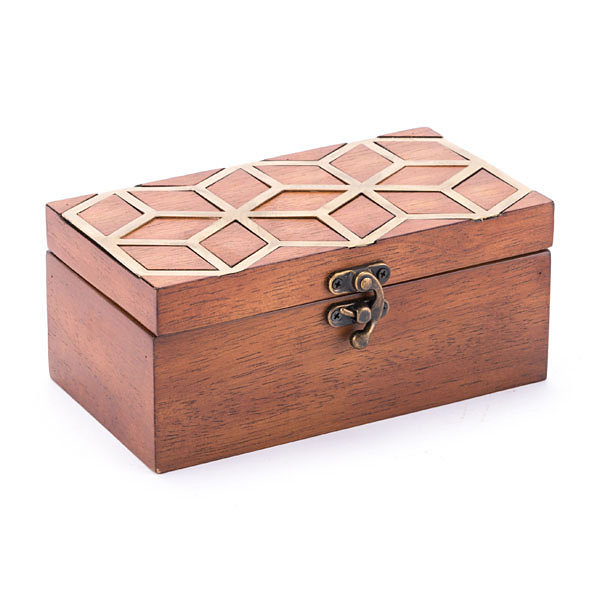 Clover Decorative Box Brown