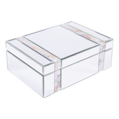 Mother of Pearl Stripes Mirrored Decorative Box