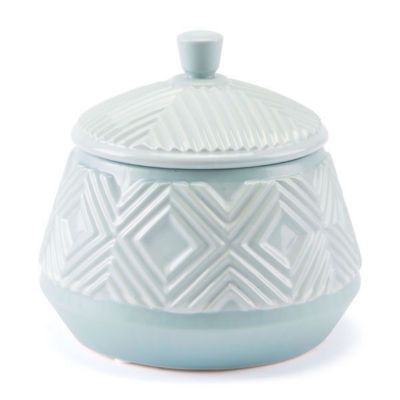 Herringbone Covered Decorative Jar