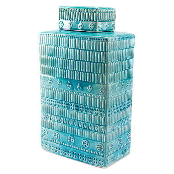 Tribal Covered Decorative Jar