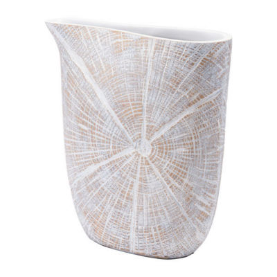 White Poly Decorative Jar