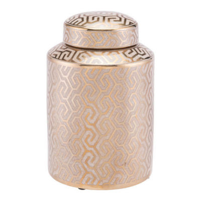 Zig Zag Covered Decorative Jar