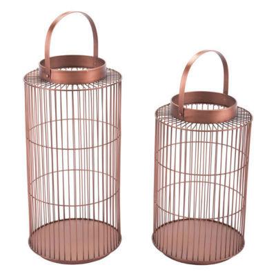 Set of 2 Metal Decorative Lanterns