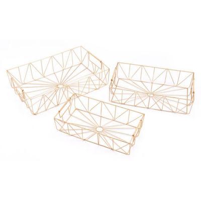 3-pc. Rectangular Decorative Tray Set