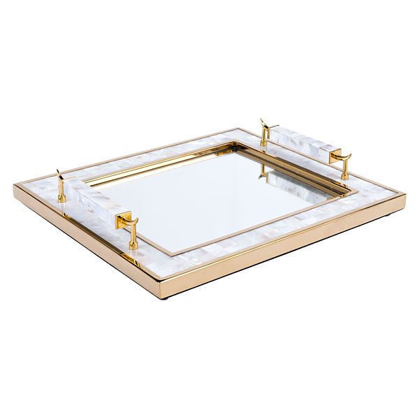Decorative Tray With Horn Handle
