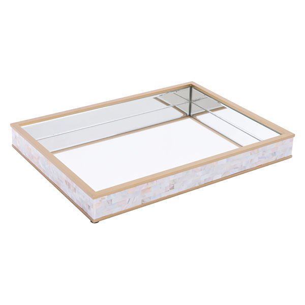 Mother of Pearl Mirrored Decorative Tray