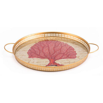 Red Coral Decorative Tray