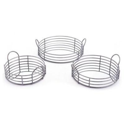 Round Wire 3-pc. Decorative Tray Set