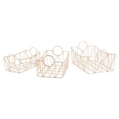Set of 3 Wire Decorative Trays