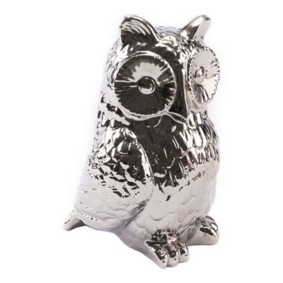 Silver Owl Figurine