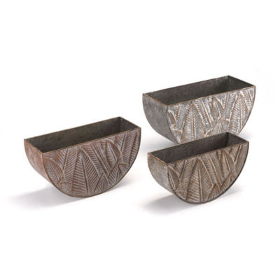 Leaves 3-pc. Planters