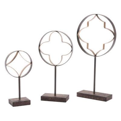 3-pc. Quatrefoil With Pedestal