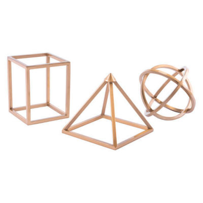 Geo Shapes 3-pc. Sculpture Set