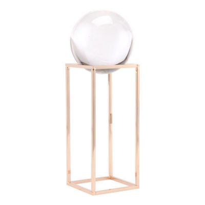 Gold Square Orb Tabletop Décor