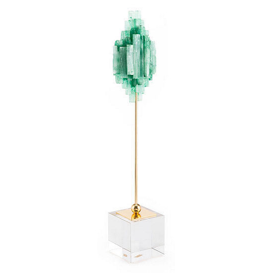 Green Stone on Pedestal
