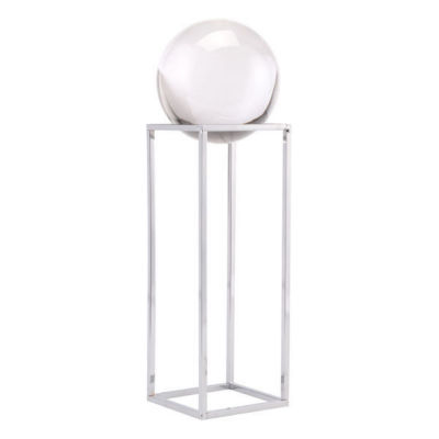 Silver Square Orb Tabletop Décor