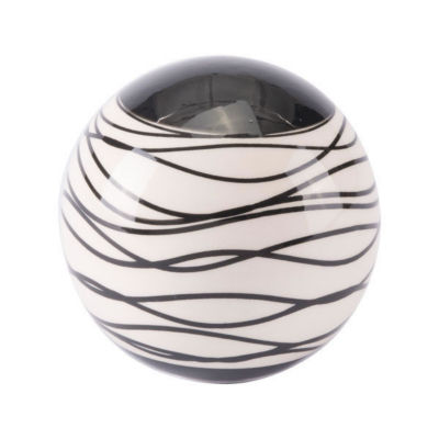 Stripes Orb Tabletop Decor