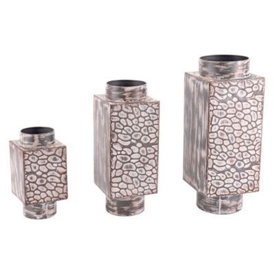 3-pc. Metal Vase Set