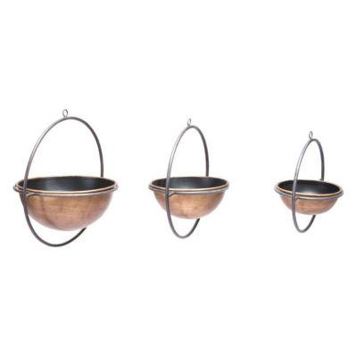 3-pc. Open Rings Metal Vase Set