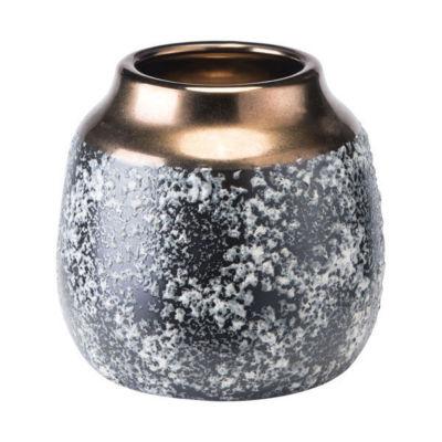 Stoneware Metal Vase