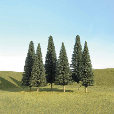 "Bachmann Trains 5""- 6"" Pine Trees (6 Per Box) - HoScale"""