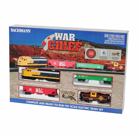Bachmann Trains Santa Fe War Chief Ready To Run HoScale Electric Train Set