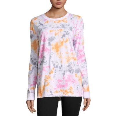 Flirtitude Long Sleeve Round Neck Graphic T-Shirt