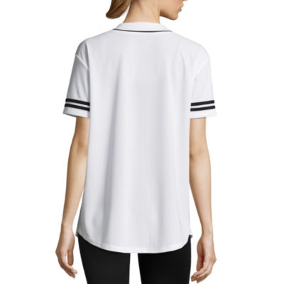 Flirtitude Short Sleeve V Neck Graphic T-Shirt