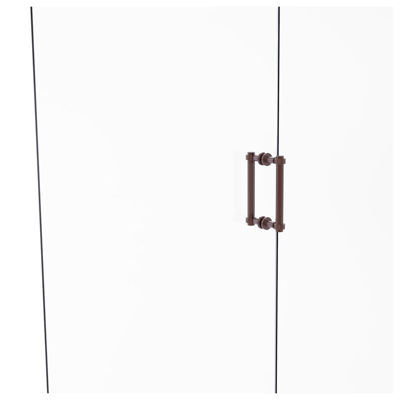 Allied Brass Contemporary 8 IN Back To Back ShowerDoor Pull With Grooved Accent