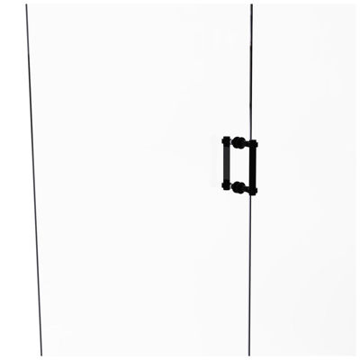 Allied Brass Contemporary 6 IN Back To Back ShowerDoor Pull With Grooved Accent