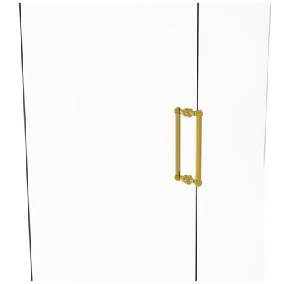 Allied Brass Contemporary 12 IN Back To Back Shower Door Pull With Dotted Accent