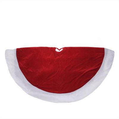"""60"""" Traditional Velveteen Christmas Tree Skirt"""