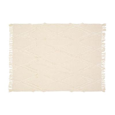 Textured Diamond Throw Blanket