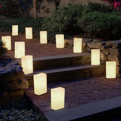 Plastic Luminaria Bags- Set of 100