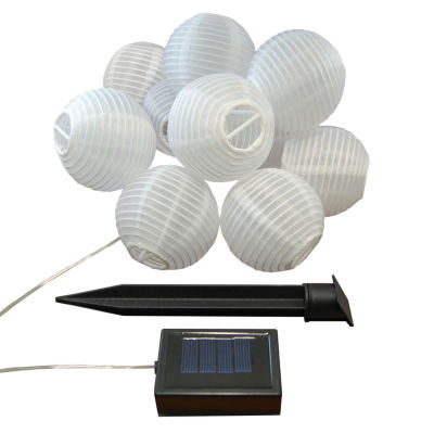 "Solar Powered String Light with 3"" Nylon Lanterns(Set of 10)"""