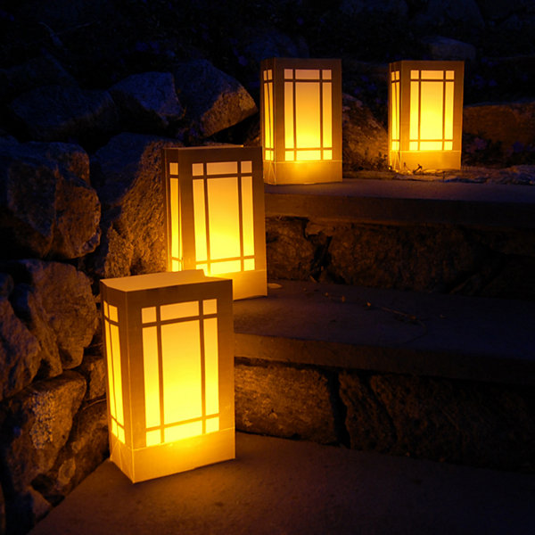 Battery Operated Luminaria Kit- Lantern  Set of 12