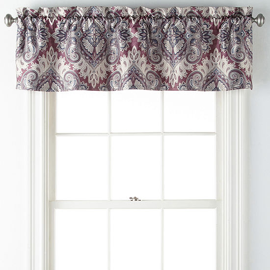 Home Expressions Chelsea Rod-Pocket Tailored Valance