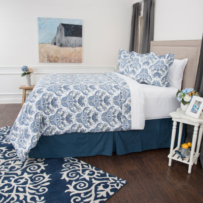 Andrew Charles By Rizzy Home Emma Floral Duvet Set