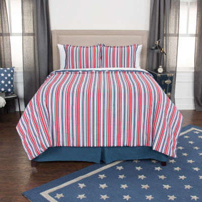 Andrew Charles By Rizzy Home Ava Stripe Comforter Set