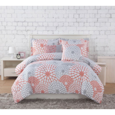 Project Generation Stella Floral Microfiber Comforter Set