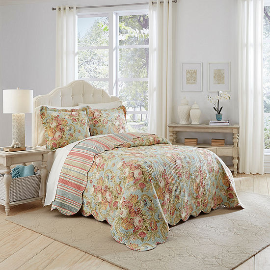 Waverly Spring Bling 3 Pc Bedspread Set