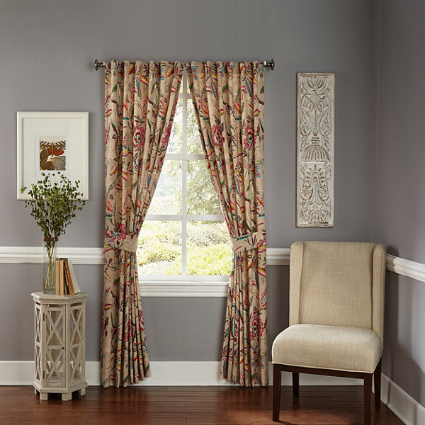 Waverly Key Of Life 2-Pack Rod-Pocket Curtain Panel