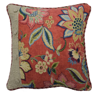 Waverly Brighton Blossom 18x18 Square Throw Pillow