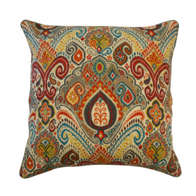 Waverly Boho Passage 18xd18 Square Throw Pillow