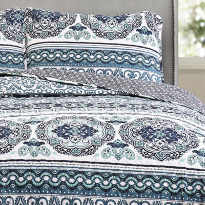 Lush Décor Global Medallion 3pc Quilt Set