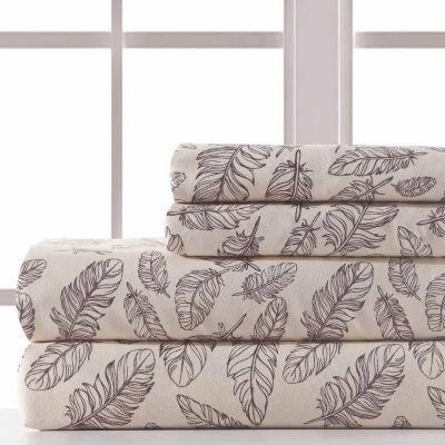 Pacific Coast Textiles Feather Sketch Microfiber Wrinkle Resistant Sheet Set