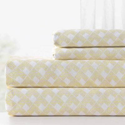 Pacific Coast Textiles Rattan Microfiber Wrinkle Resistant Sheet Set